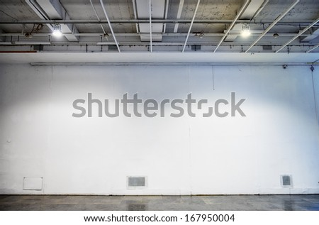 blank wall at a gallery - nice background with space for text - stock photo