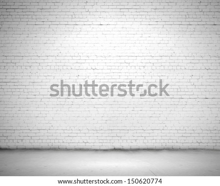 Blank wall made of bricks. Place for text - stock photo