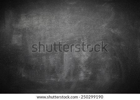 Blank washed blackboard frame - stock photo