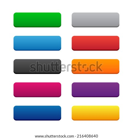 Blank web buttons. Vector available. - stock photo