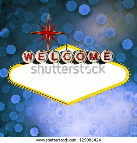 Blank Welcome To Las Vegas neon sign - stock photo