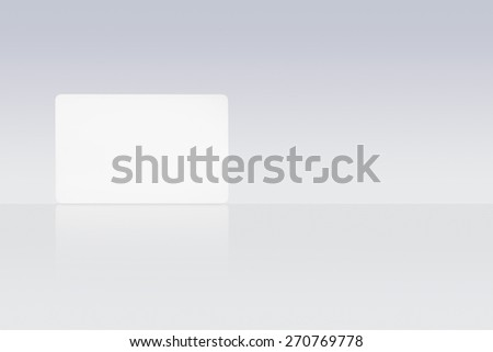 Blank white bank card - stock photo