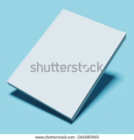 Blank white book - stock photo