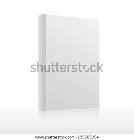 Blank white book cover template. Rasterized copy.