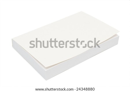 Blank white bookcover