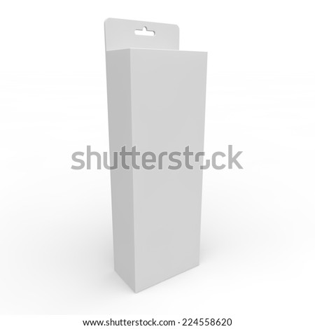 Blank white box for different goods and products - stock photo