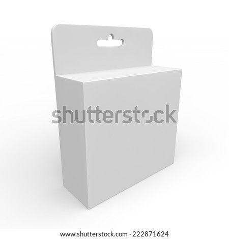 Blank white box for different products. Isolated background - stock photo