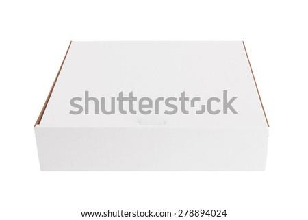 blank white box isolated on a white background - stock photo