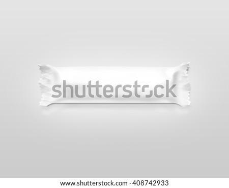 Blank White Candy Bar Plastic Wrap Stock Illustration 408742933 ...