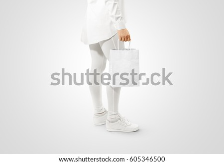 blank white craft paper bag design stock photo edit now 605346500