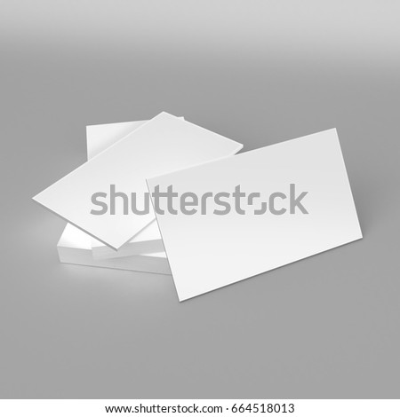 Blank White D Visiting Card Template Stock Illustration - 3d business card template