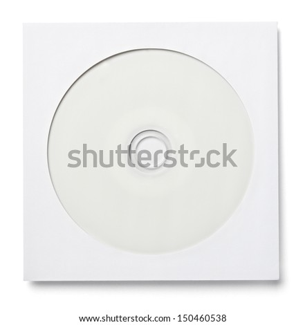 blank white dvd and envelope on white background with clipping path