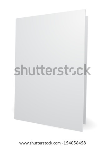blank white folder 3d - stock photo
