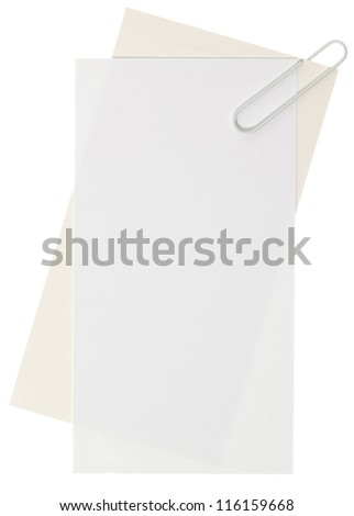 Blank white labels - stock photo
