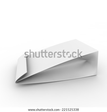 Blank white package for food. Isolated background