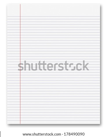 Blank White Paper Background From Lined Page  Blank Paper Background
