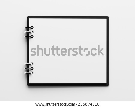 Blank White Paper Notepad isolated on white background - stock photo