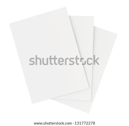 blank white paper sheets stacked in the order - stock photo