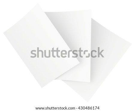 blank white paper sheets stacked in the order