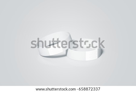 cheap stock images royalty images vectors shutterstock blank white paper wristbands mock ups 3d rendering empty event wrist bands design mockup