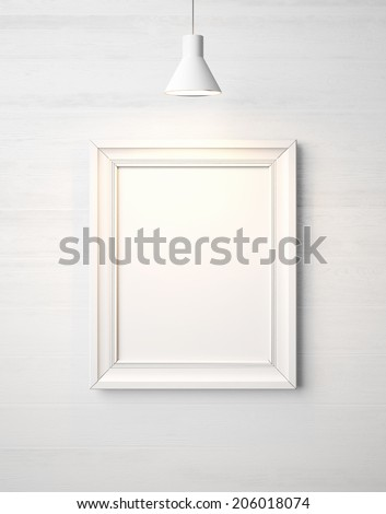 Blank white picture frame - stock photo