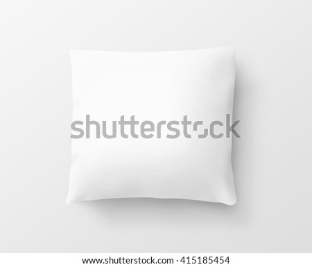 Blank white pillow case design mockup, isolated, clipping path,3d illustration. Clear pillowslip cover mock up template. Bed cotton shell ready for texture, pattern. Clean  empty sham. - stock photo
