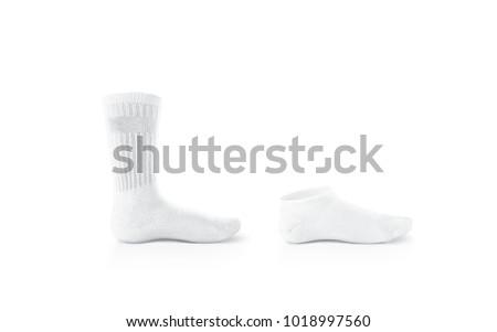 blank white socks design mockup long stock photo royalty free