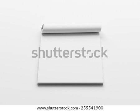 Blank White Stack of Papers isolated on White Background