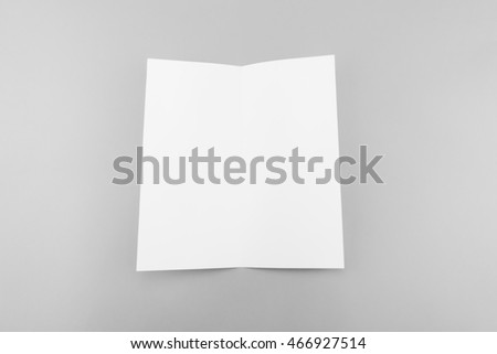 Blank white template paper with soft shadows