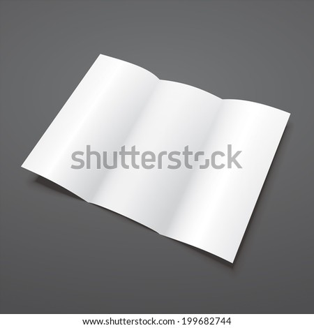 Tri Fold Brochure Template White Mock Stock Illustration
