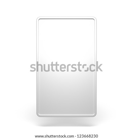 Blank White Vertical Billboard on a White Background - stock photo