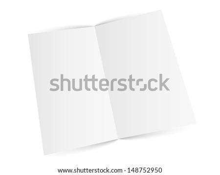 Blank white zigzag folded paper. Raster version. - stock photo