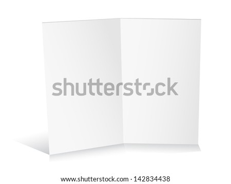 Blank white zigzag folded paper. Raster version. Vector version available in my portfolio - stock photo