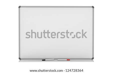 Blank Whiteboard - stock photo