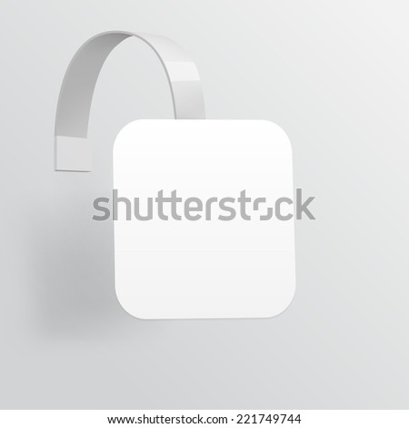 Blank Wobbler with Transparent Strip Isolated on White Background - stock photo