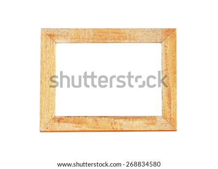 blank wooden frame , isolated on white