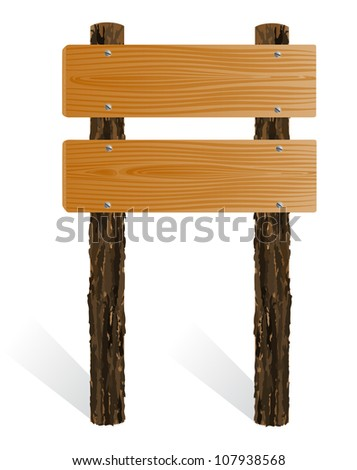 Blank wooden sign board - stock photo