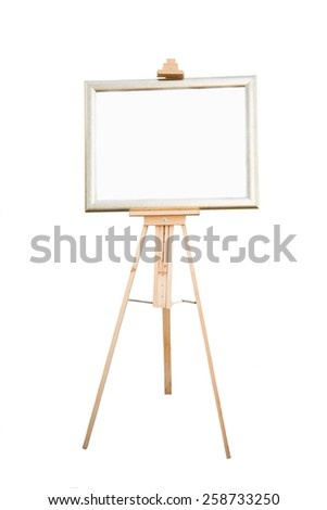 blank wooden sign on white background, lable
