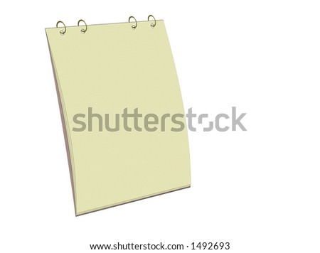 Blank yellow notepad for easy use - stock photo