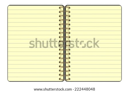 Blank Yellow Paper on white background. 3d Rendering