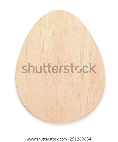 Blanks for decoupage. Easter wooden eggs isolated on white background.