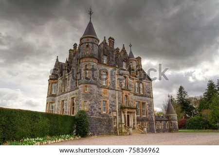 Blarney House at castle gardens - Co. Cork - Ireland - stock photo