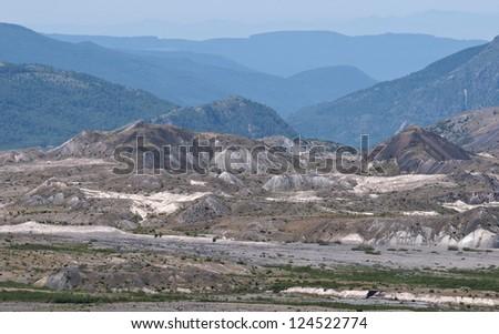 Blast zone of Mt St Helens - stock photo
