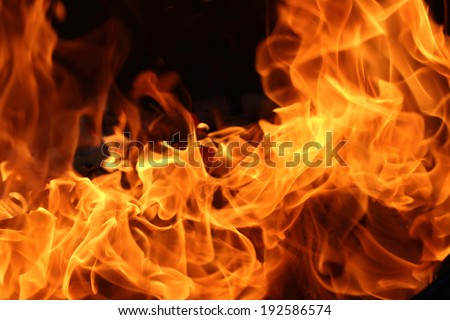 blaze fire flame from paper, texture background - stock photo