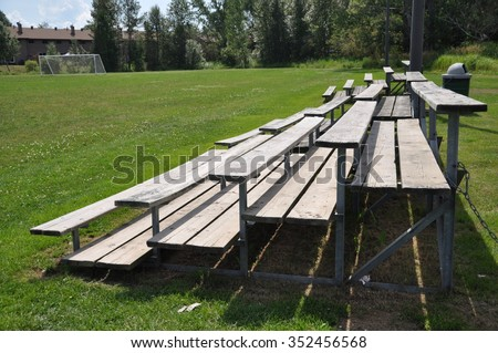 Bleacher in the field - stock photo
