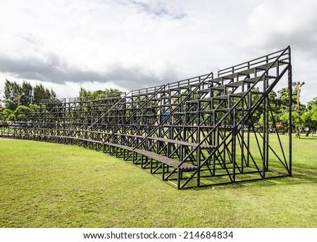 Bleachers curve - stock photo