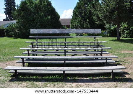 Bleachers front view - stock photo