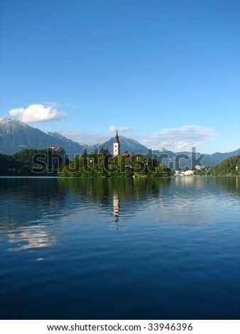 Bled Island - stock photo
