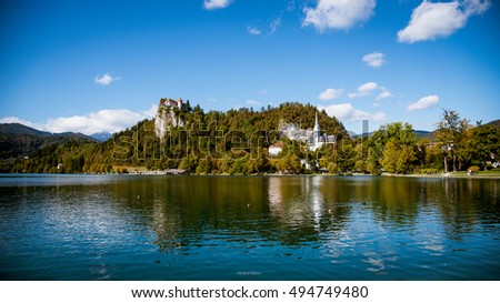 Bled Lake Autumn Landscape