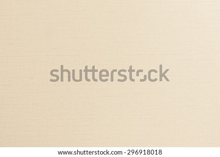 Blended cotton silk fabric textile wallpaper texture pattern background in light yellow cream beige pastel color tone   - stock photo